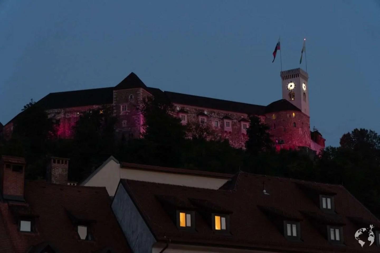 Ljubljana castle view night