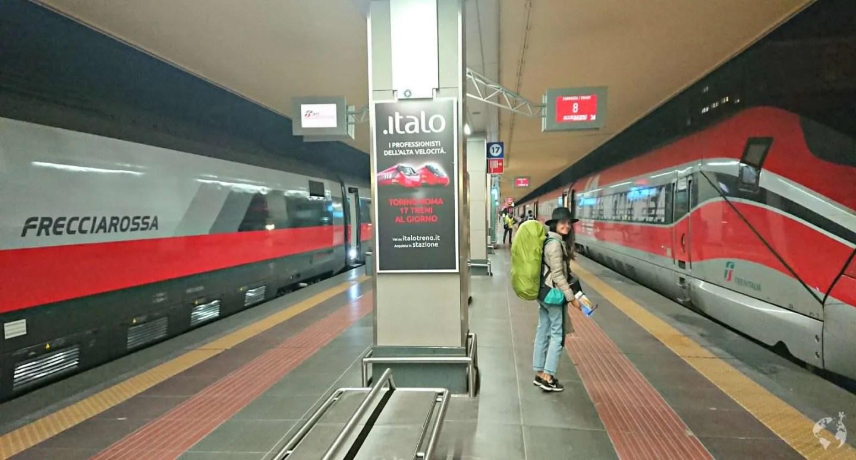 Viaggio treno interrail frecciarossa