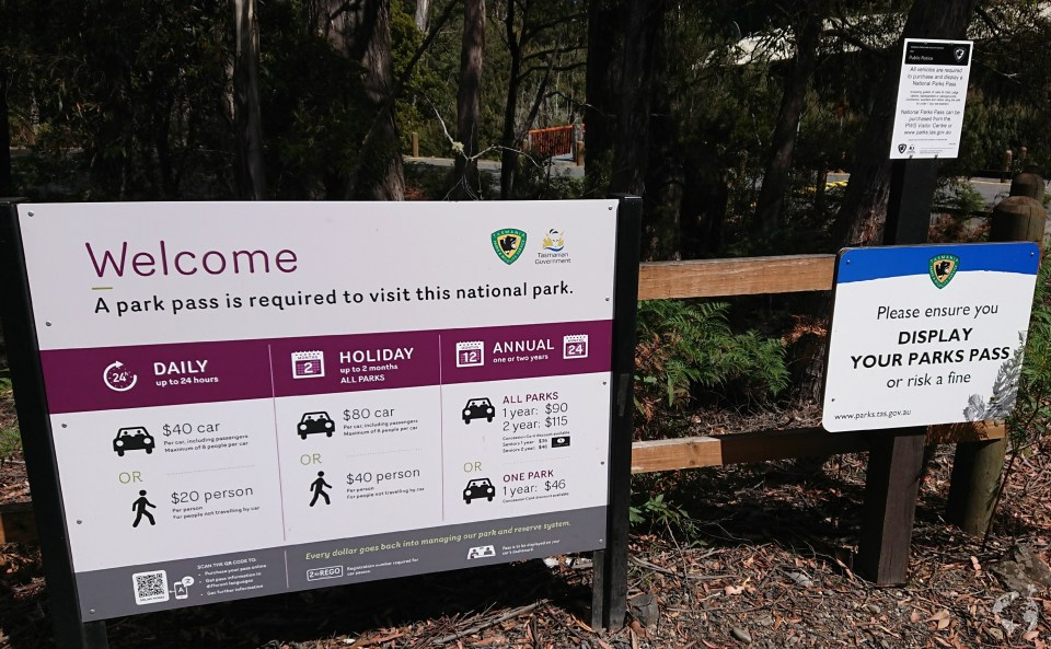 national parks pass cost tasmania