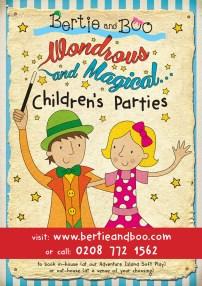 BertieandBooABoard_Childrensparties