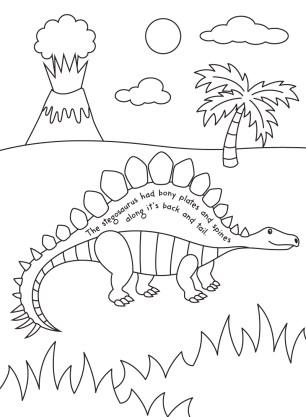 Stegosaurus-colouring-image