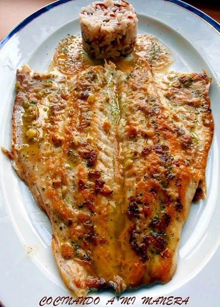 Lubina a la plancha en salsa vinagreta deliciosa for Cocinar pez espada a la plancha