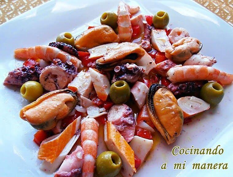 receta con marisco