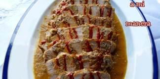 receta de lomo relleno