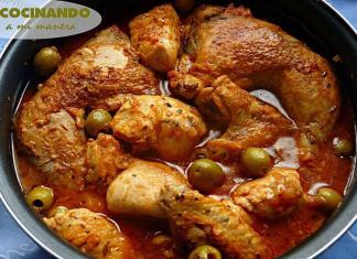pollo en salsa provenzal