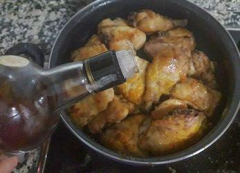 pollo en salsa receta