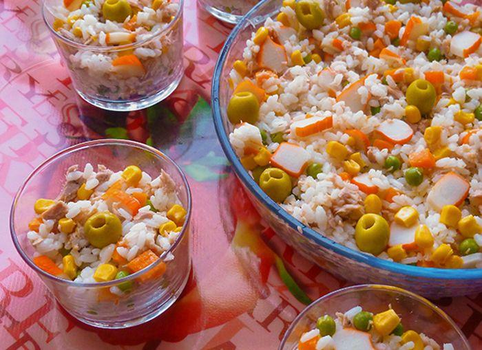 Ensalada de arroz receta muy f cil y sana - Ensalada de arroz light ...