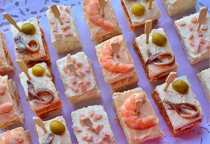 Aperitivos fr os con pan de molde - Aperitivos de mariscos ...