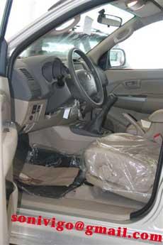 interior front of LHD Toyota Hilux Vigo 2009