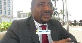 Tibou Kamara, ministre conseiller principal à la présidence et ministre de l'industrie lors d''une interview avec Aminata.com