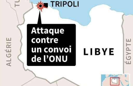 Libye: attaque contre un convoi de l'ONU | AFP | Sophie RAMIS