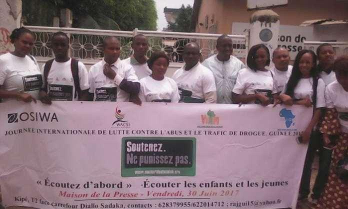 Le RAJ-GUI célèbre la journée internationale de la lutte contre le trafic et l'abus des drogues