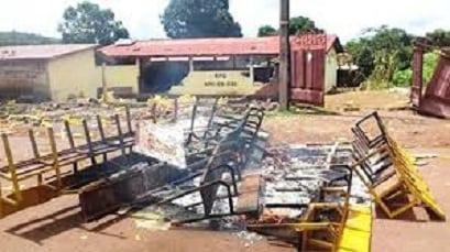 Le siège du RPG arc-en-ciel saccagé à Boké (photo d'illustration)
