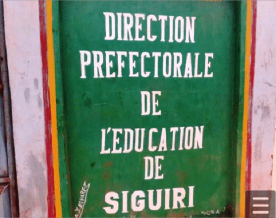 La Direction préfectorale de l'éducation de Siguiri