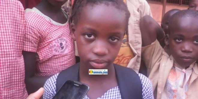 Saran Condé, élève en 3ème année à l'école primaire Aviation