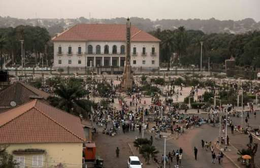 Une vue de la place de l'Empire à Bissau, le 13 février 2018 | AFP | Xaume Olleros