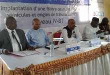 Lucien Guilao DG de l'ONFPP et le ministre Damantang Camara lors du lancement de la filière maintenance de véhicules et engins des travaux publics