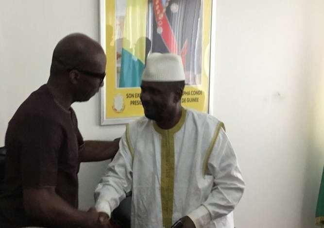 Aboubacar Sylla reçoit une délégation du Liberia