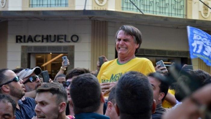 Jair Bolsonaro, candidat d'un parti de l'extrême droit lors d'une campagne électorale