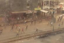 Violentes manifestations à Koloma (Crédit photo: Boubacar Barry)