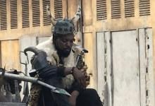 Koundouwaka lors du tournage de son clip