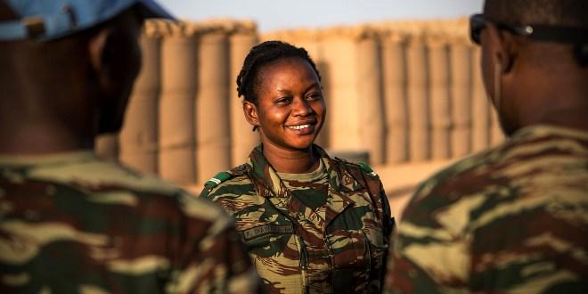 Une militaire de la MINUSMA au Mali