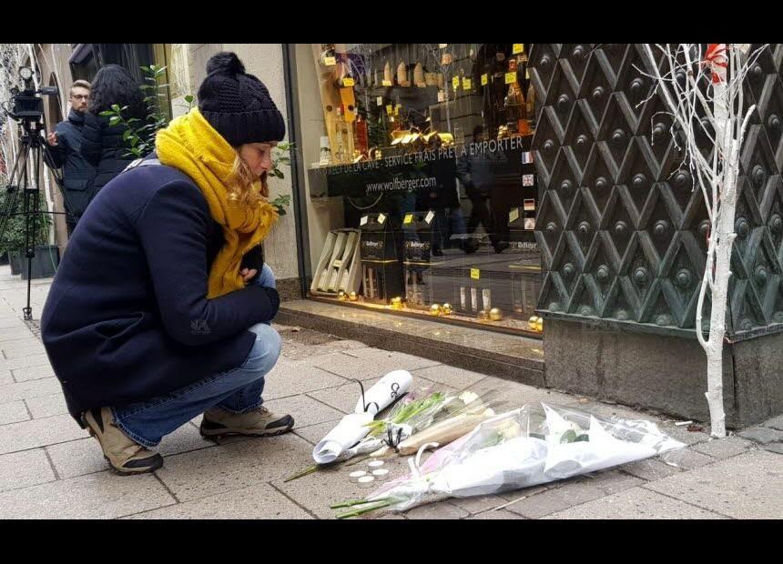 Recueillement à la mémoire des victimes de l'attentat de Strasbourg