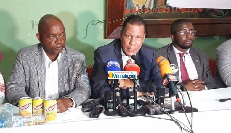 Abdoulaye Sow et Aboubacar Soumah responsables de l'Union syndicale des travailleurs de Guinée (USTG)