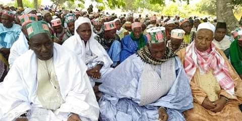 Des sages religieux lors du lancement de la construction du village islamique, culturel et écologique du Fouta Djallon