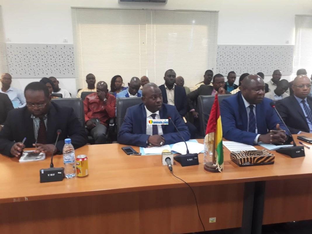 Le ministre du budget Ismaël Dioubaté au cours de l'atelier des directeurs administratifs et financiers (DAF)