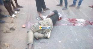 Un jeune tué par un accident de circulation par un véhicule militaire