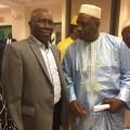 Dialla Doumbouya, nouveau président des Guinéens de DC, Marylande et Virginie et l'ambassadeur Kerfalla Yansané