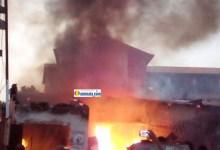 Incendie d'une maison à Lansanaya Barrage