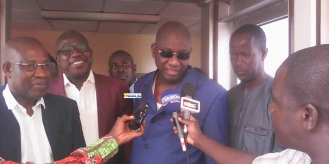 Le Général Mathurin Bangoura, Lucien Guilao et certains membres du comité d'organisation de la CAN 2019