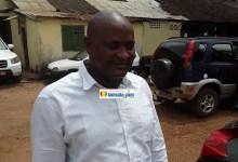 Le journaliste Lansana Camara à sa sortie de prison