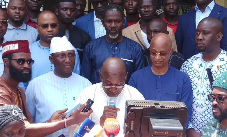 Cellou Dalein Diallo, Sidya Touré, Abdourahmane Sano et certains leaders politiques et de la société civile membre du front anti-3e mandat