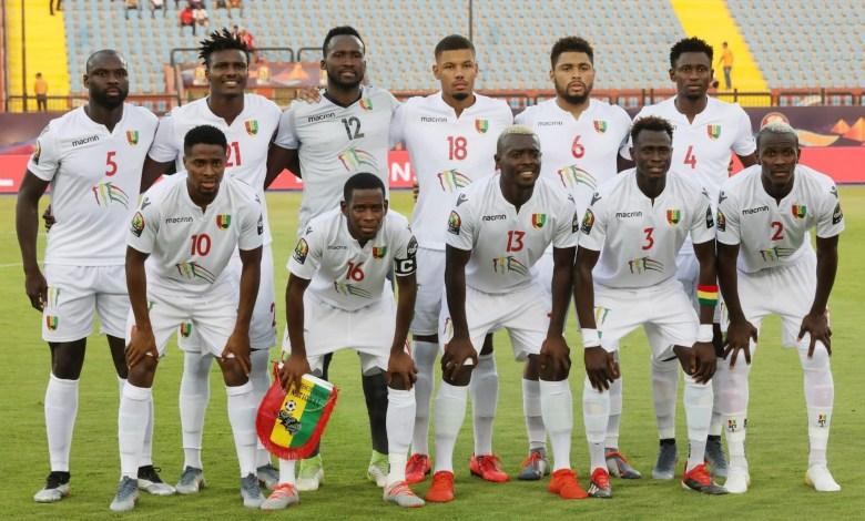 Des joueurs du Syli national lors d'un match de la CAN 2019