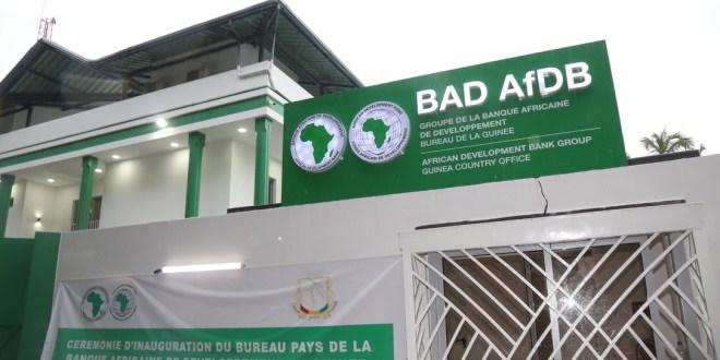 Les locaux de la Banque africaine de développement à Conakry