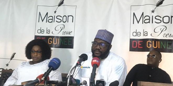 Les avocats de Amadou Diaby lors d'une conférence de presse