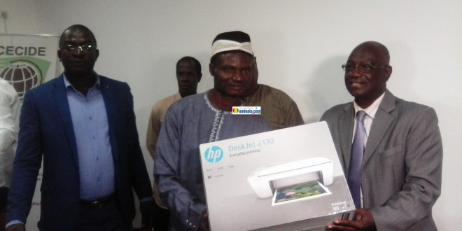 Remise des équipements informatiques à trois communes rurales