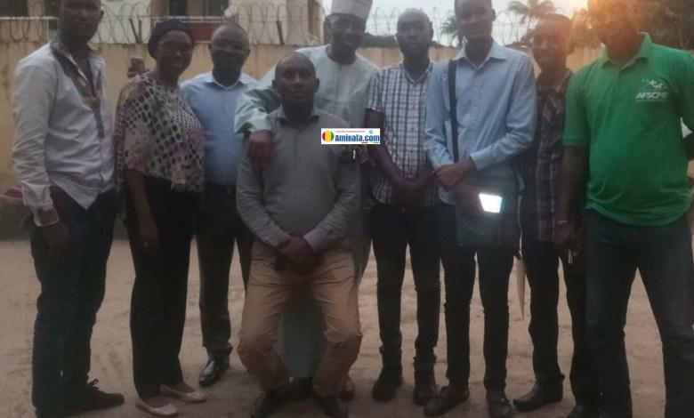 Les membres de l'Association des victimes de déguerpissement de Kaporo Rail