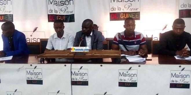 Les membres du Collectif des Jeunes Démocrates de Guinée (CJDG)