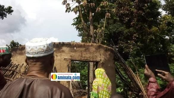 Une case consumée par un incendie mystérieux à Gankou