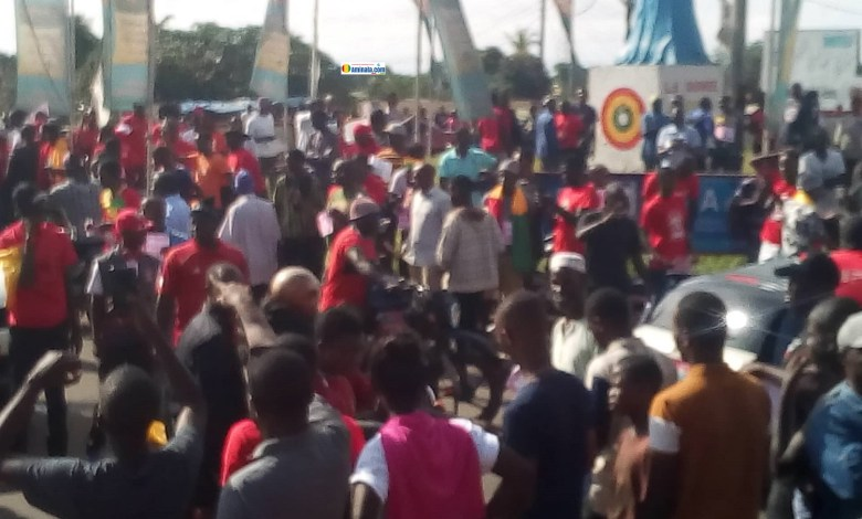 Manifestation des militants hostiles au 3e mandat
