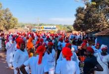 Des femmes manifestent contre le 3e mandat à Labé