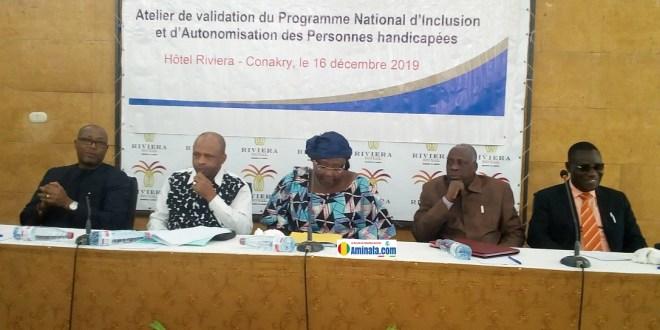 Atelier de validation du Programme national d'inclusion et d'autonomisation des Personnes Handicapées en République de Guinée