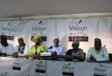 Des membres du Groupe National de Contact pour le Dialogue et la Paix en Guinée