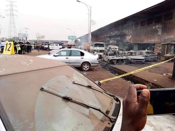 Voiture incendié à Matam casse Madina