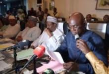 Lors de la cérémonie de prise de fonction de Bangaly Maty, directeur général de l'Electricité de Guinée (EDG