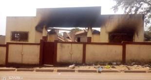 Les locaux du Tribunal de première instance de Labé après son incendie